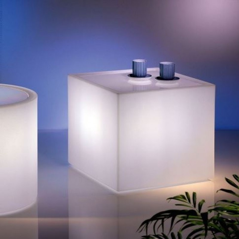 Home Fitting Cube Coffee Table With Light Lyxo