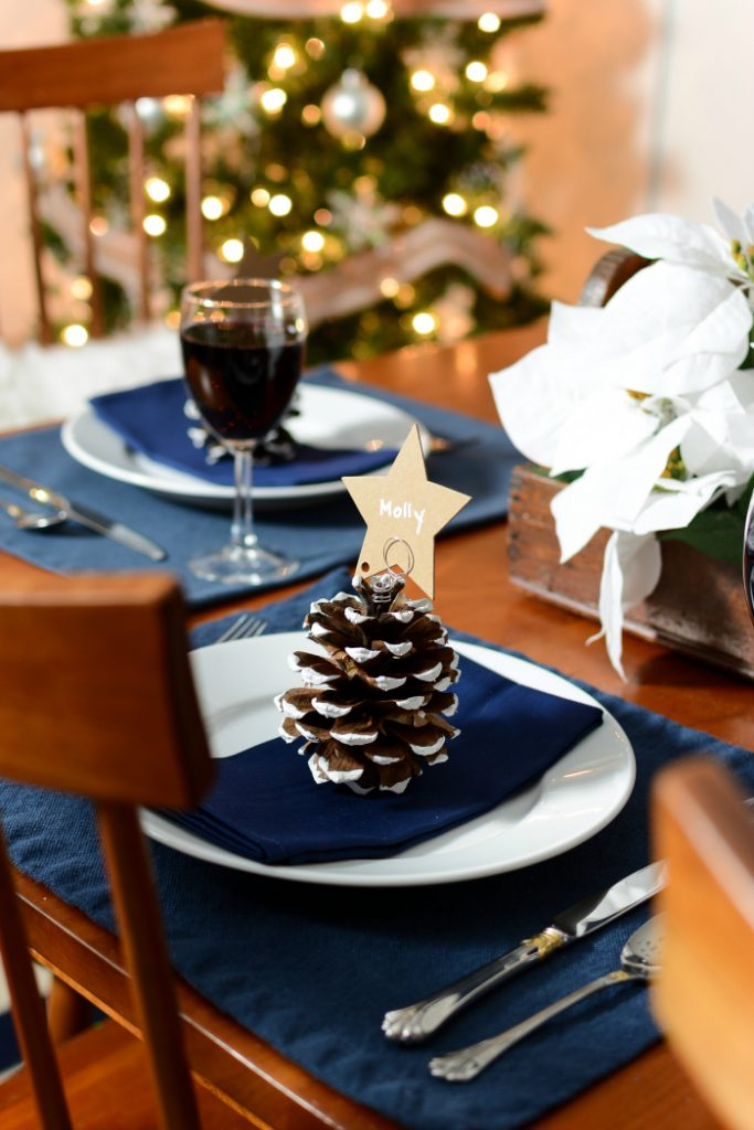 Pine Cone Christmas Tree Place Card Holders It All