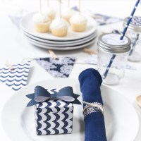 Summer Nautical Navy And White Party Ideas with Paper