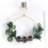 Embroidery Hoop Winter Wreath