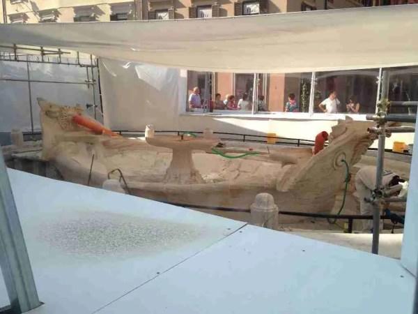 La Barcaccia - During the Restoration