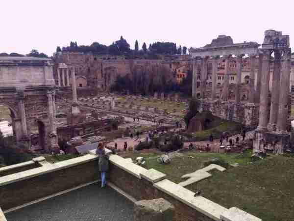 Roman Forum - Thinking Girl