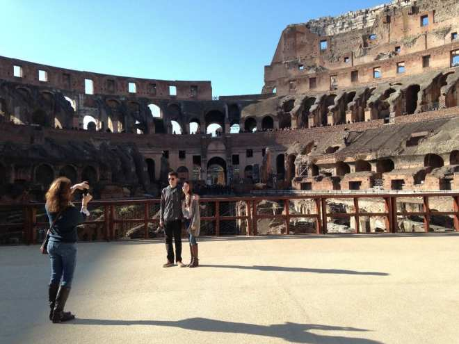 Out on the Colosseum platform © Melanie Renzulli