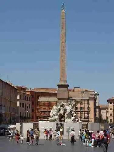 Agonalis Obelisk, Rome Italy