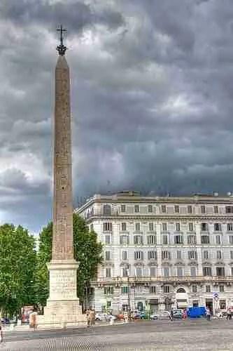 Obelisk in Piazza San Giovanni in Laterano Rome Italy
