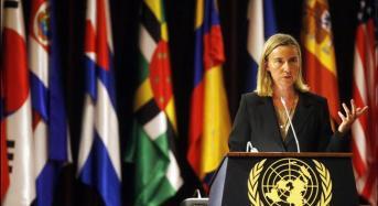 Mogherini: Israele eviti iniziative controproducenti che ostacolino dialogo