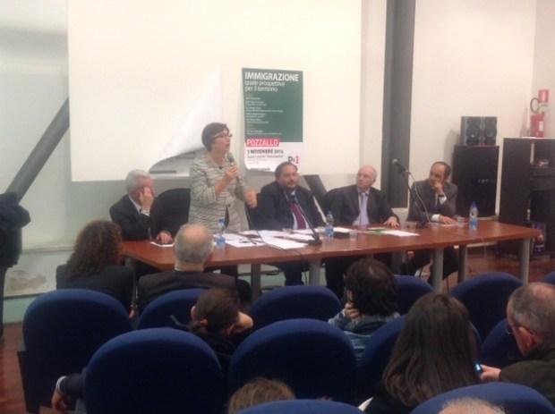 L'intervento della senatrice Padua ieri pomeriggio a Pozzallo