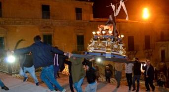 Settimana Santa a Ragusa Ibla: Il gruppo statuario di Gesù nell'orto degli ulivi
