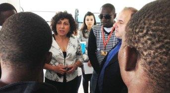 L'eurodeputato Michela Giuffrida al Cara di Mineo incontra i superstiti del naufragio
