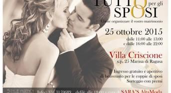 """Marina di Ragusa. """"Tutto per gli Sposi"""", Villa Criscione, 25 ottobre"""