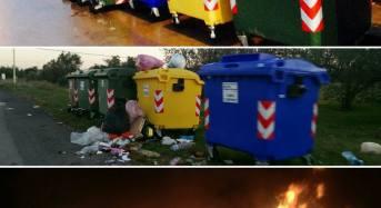 Acate. Raccolta differenziata: incendiati i contenitori di un'isola ecologica. Nota di sdegno dell'amministrazione comunale.