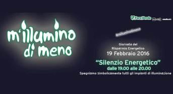 """Fare Verde Modica aderisce a """"m'illumino di meno"""" 2016"""