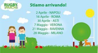Al via la quinta edizione di Rugby nei Parchi:  quest'anno la palla ovale correrà in tutta Italia!