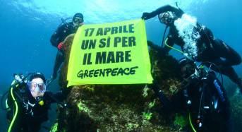 """Greenpeace: """"Dalle profondità dei mari italiani un messaggio contro le trivelle"""""""