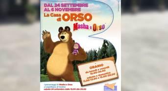 Presentazione evento Masha e Orso presso Parco Commerciale Belvedere