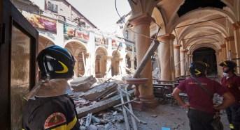 """Concordia sulla Secchia. """"Le cinque ricostruzioni della chiesa parrocchiale""""."""