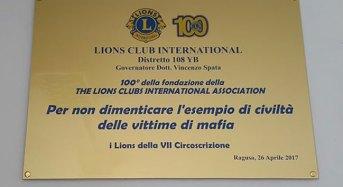 """I Lions con Maria Falcone """"per non dimenticare…"""""""