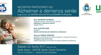 Santa Croce Camerina, incontro su Alzheimer e Demenza senile