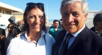 Visita del Presidente del Parlamento Europeo, Antonio Tajani all'hotspot di Pozzallo