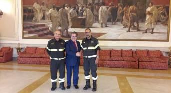 Il sindaco Enzo Bianco riceve il nuovo direttore Regionale dei Vigili del Fuoco Roberto Lupica