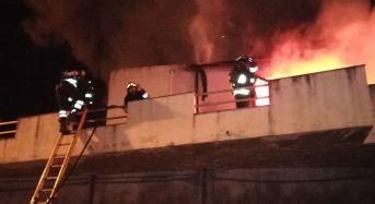 Vittoria. Incendio Appartamento