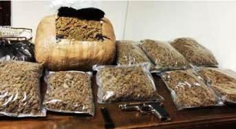 Madre e figlio occultavano in casa 13 chili di marijuana e una pistola: Arrestati