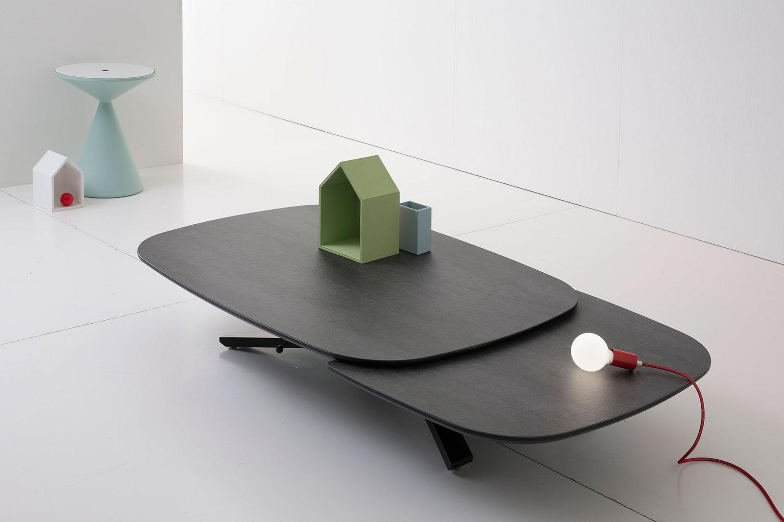 place table transformable elliptique