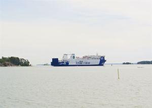Eckerö Linen uusi rahtialus Finbo Cargo aloitti liikennöinnin Vuosaaren satamasta
