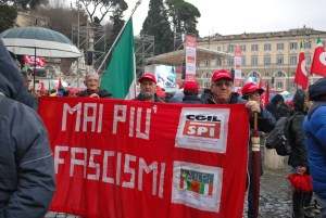 marcha antifascista roma
