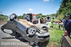 Grave acidente deixou vítimas na SP-147