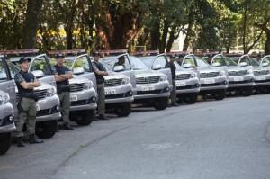 Governo do Estado investiu R$ 13 milhões em 106 novas viaturas que farão a escolta dos presos (Tiago Silva)