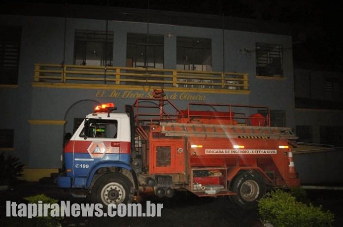 Incêndio teve origem criminosa, segundo PM (Paulo Godoy)