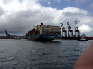 Porto de Santos foi destino de estudantes do Iesi (Divulgação)