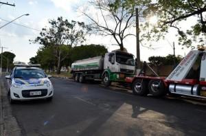 Caminhão roubado foi encontrado em Mogi Guaçu, mas carga desapareceu (Jefferson Rodrigo/Portal Mogi Guaçu)