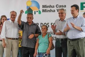 Alckmin entregou chaves a contemplados com novas moradias (A2 Fotografia/Gilberto Marques)