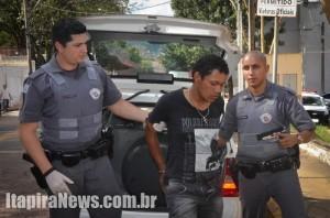 Acusado foi detido pela PM e acabou preso (Reprodução/Tribuna de Itapira)