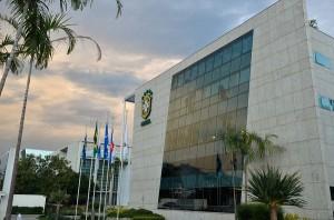 Nome de José Maria Marin foi removido da fachada da sede da CBF (Fernando Frazão/Agência Brasil)