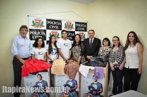 Doações foram entregues ao Fundo Social por delegado-titular