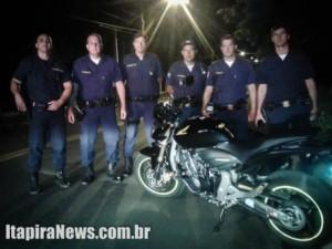 Hornet foi recuperada por guardas civis municipais (Divulgação)