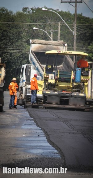 Obras de recapeamento avançam em Itapira