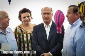 Alckmin visitou creche-escola ao lado de secretária de Educação, Flávia Rossi