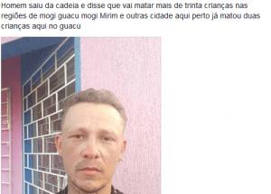 Homem é do Paraná, mas boato se espalhou no interior paulista (Reprodução)