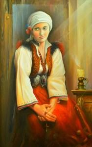 Калеш Анѓа - Масло на платно - автор Дејан Макриевски