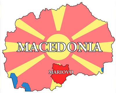 Location of Mariovo in Macedonia