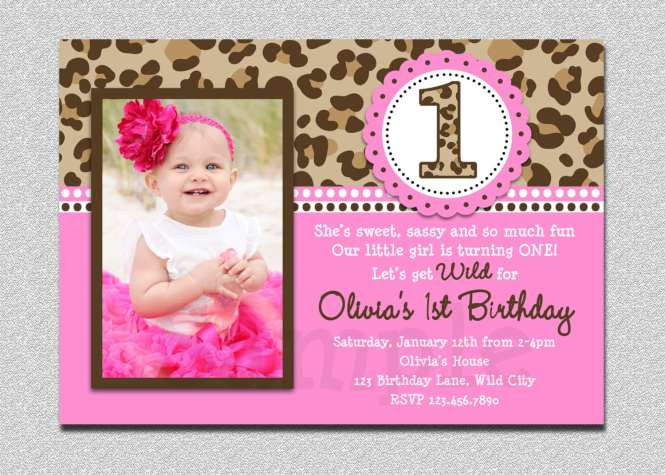 1st Birthday Party Invitation Cards