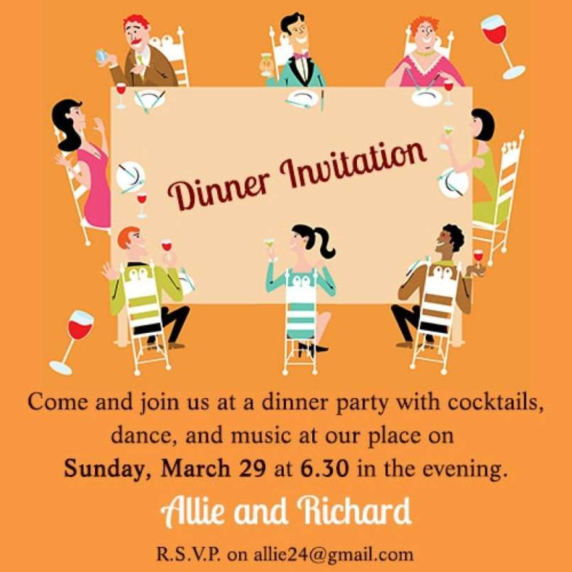 Sample Invitation Letter For Lunch Party - Magglebrooks