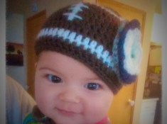 Newborn football beanie with layered flower in Seattle Seahawks team colors by itchinforsomestitchin.com