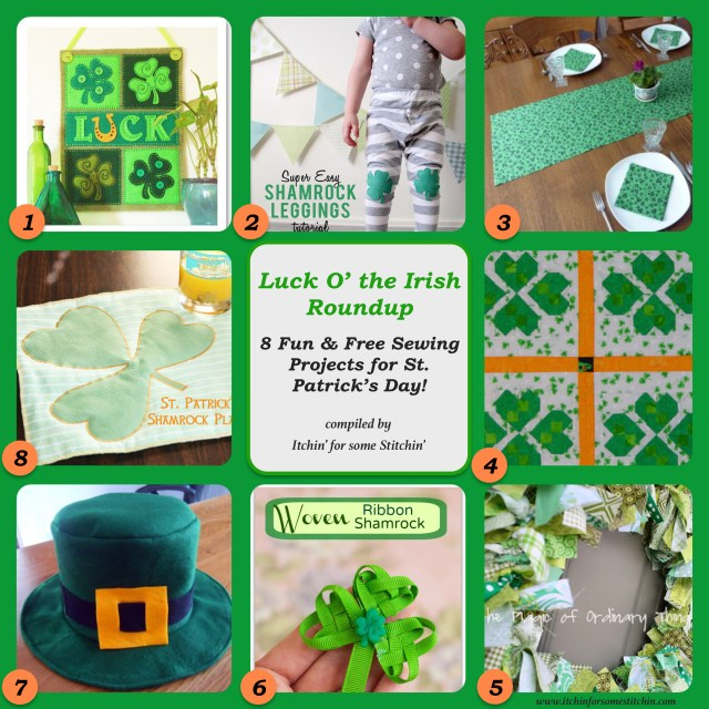 8 Fun & Free St. Patrick's Day Sewing Projects