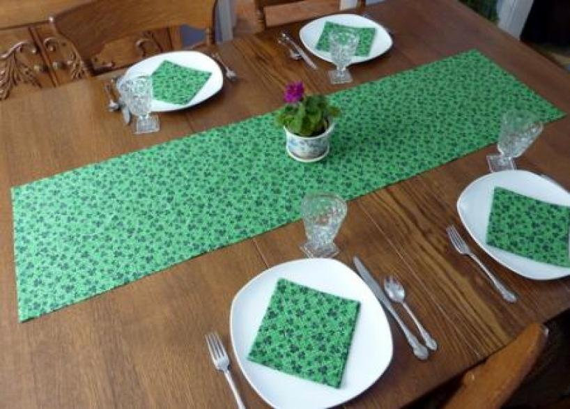 St. Patrick's Day Table Runner & Napkins by Lori Miller Designs