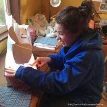 Dakota sewing baby wipes